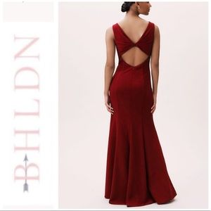 BHLDN Misty Bordeaux Sleeveless Red Gown Dress